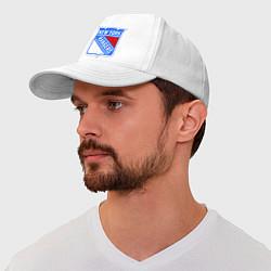Бейсболка New York Rangers цвета белый — фото 1