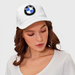 Бейсболка Logo BMW цвета белый — фото 2