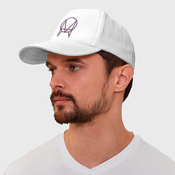 Бейсболка Skrillex Symbol цвета белый — фото 1