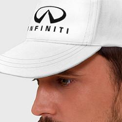 Бейсболка Infiniti logo цвета белый — фото 2