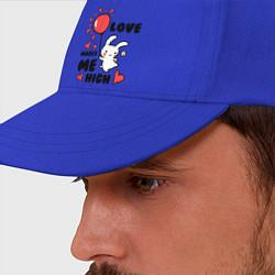 Бейсболка Love makes me high цвета синий — фото 2
