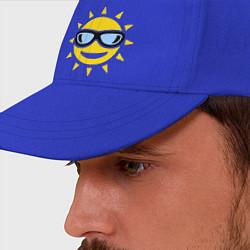 Бейсболка Солнышко в очках цвета синий — фото 2