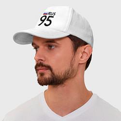 Бейсболка RUS 95 цвета белый — фото 1
