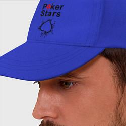 Бейсболка Poker Stars цвета синий — фото 2