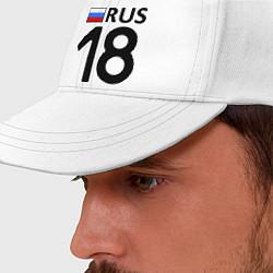 Бейсболка RUS 18 цвета белый — фото 2