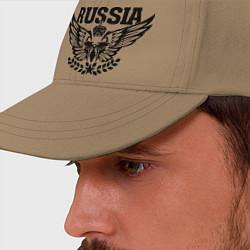 Бейсболка Russia: Empire Eagle цвета миндальный — фото 2