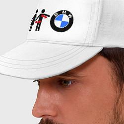 Бейсболка I love BMW цвета белый — фото 2