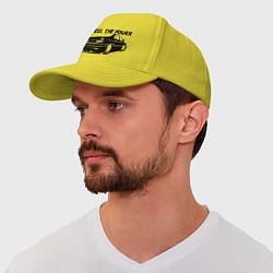 Бейсболка Feel the power цвета желтый — фото 1