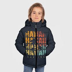 Детская зимняя куртка для мальчика с принтом Hawaii Surfing, цвет: 3D-черный, артикул: 10100569406063 — фото 2