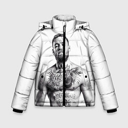 Куртка зимняя для мальчика Конор Макгрегор цвета 3D-черный — фото 1
