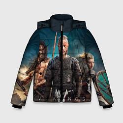 Куртка зимняя для мальчика 3 викинга цвета 3D-черный — фото 1