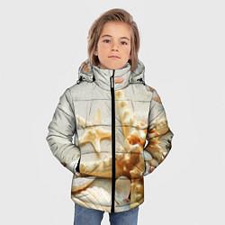 Куртка зимняя для мальчика Морские ракушки цвета 3D-черный — фото 2