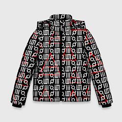 Детская зимняя куртка для мальчика с принтом 30 STM: Symbol Pattern, цвет: 3D-черный, артикул: 10105693106063 — фото 1