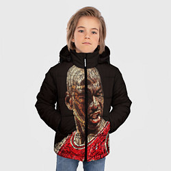Куртка зимняя для мальчика Michael Jordan цвета 3D-черный — фото 2