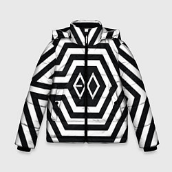 Куртка зимняя для мальчика EXO Geometry цвета 3D-черный — фото 1