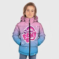 Детская зимняя куртка для мальчика с принтом My Little Pony, цвет: 3D-черный, артикул: 10108222706063 — фото 2