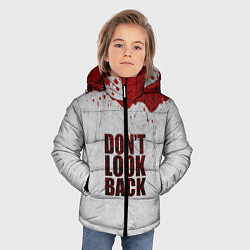 Куртка зимняя для мальчика Don't look back цвета 3D-черный — фото 2