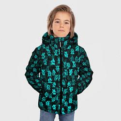 Куртка зимняя для мальчика Инопланетная письменность цвета 3D-черный — фото 2