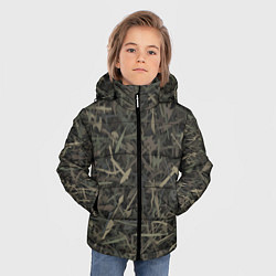 Куртка зимняя для мальчика Камуфляж с холодным оружием цвета 3D-черный — фото 2