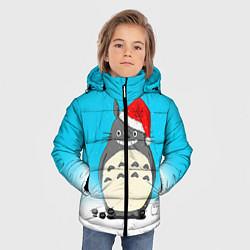 Куртка зимняя для мальчика Тоторо под снегом цвета 3D-черный — фото 2