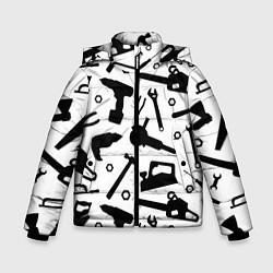 Куртка зимняя для мальчика Строитель 7 цвета 3D-черный — фото 1