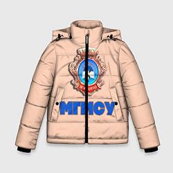 Куртка зимняя для мальчика МГМСУ цвета 3D-черный — фото 1