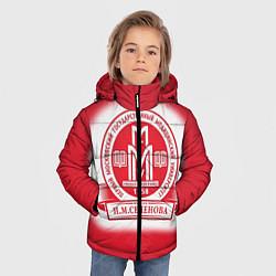 Куртка зимняя для мальчика ПМГМУ цвета 3D-черный — фото 2