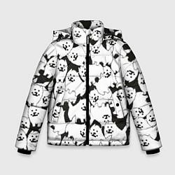 Куртка зимняя для мальчика Undertale Annoying dog цвета 3D-черный — фото 1