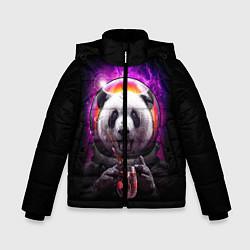 Куртка зимняя для мальчика Panda Cosmonaut цвета 3D-черный — фото 1