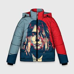 Куртка зимняя для мальчика Kurt Cobain цвета 3D-черный — фото 1