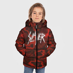 Детская зимняя куртка для мальчика с принтом Slayer Texture, цвет: 3D-черный, артикул: 10112040806063 — фото 2
