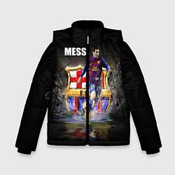 Детская зимняя куртка для мальчика с принтом Messi FCB, цвет: 3D-черный, артикул: 10112080706063 — фото 1