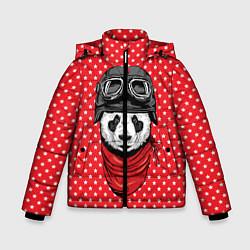 Куртка зимняя для мальчика Панда пилот цвета 3D-черный — фото 1