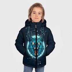 Куртка зимняя для мальчика Космический медведь цвета 3D-черный — фото 2