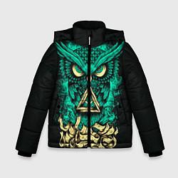 Куртка зимняя для мальчика Bring Me The Horizon: Owl цвета 3D-черный — фото 1