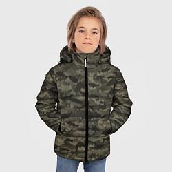 Куртка зимняя для мальчика Камуфляж рыбака цвета 3D-черный — фото 2