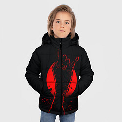 Детская зимняя куртка для мальчика с принтом Zombie Rock, цвет: 3D-черный, артикул: 10114189106063 — фото 2