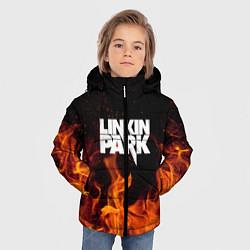 Куртка зимняя для мальчика Linkin Park: Hell Flame цвета 3D-черный — фото 2
