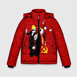 Куртка зимняя для мальчика Communist Party цвета 3D-черный — фото 1