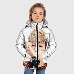 Детская зимняя куртка для мальчика с принтом Kim TaeHyung, цвет: 3D-черный, артикул: 10114634906063 — фото 2