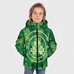 Куртка зимняя для мальчика Ireland, Happy St. Patricks Day цвета 3D-черный — фото 2
