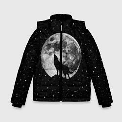 Куртка зимняя для мальчика Лунный волк цвета 3D-черный — фото 1