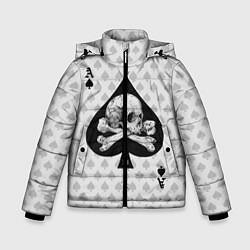 Куртка зимняя для мальчика Смертельный туз цвета 3D-черный — фото 1
