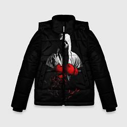 Куртка зимняя для мальчика Мертвый боксер цвета 3D-черный — фото 1