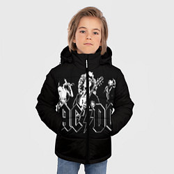 Куртка зимняя для мальчика AC/DC: Mono цвета 3D-черный — фото 2