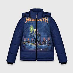 Детская зимняя куртка для мальчика с принтом Megadeth: Rust In Peace, цвет: 3D-черный, артикул: 10118735606063 — фото 1