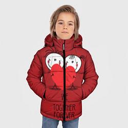 Куртка зимняя для мальчика Мы вместе навсегда цвета 3D-черный — фото 2