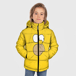 Куртка зимняя для мальчика Гомер стесняется цвета 3D-черный — фото 2