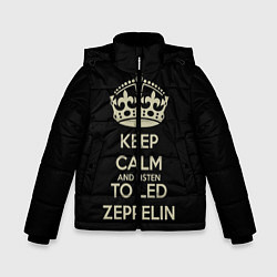 Куртка зимняя для мальчика Keep Calm & Led Zeppelin цвета 3D-черный — фото 1