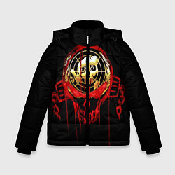 Куртка зимняя для мальчика Megadeth: Blooded Aim цвета 3D-черный — фото 1